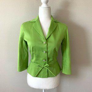Moschino Lime Green Vintage Blazer Jacket